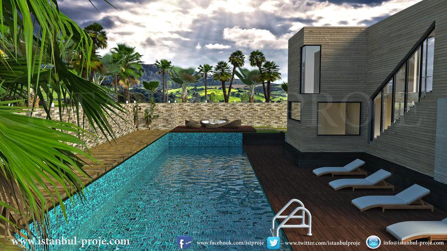 Modern Villa royalty-free 3d model - Preview no. 8