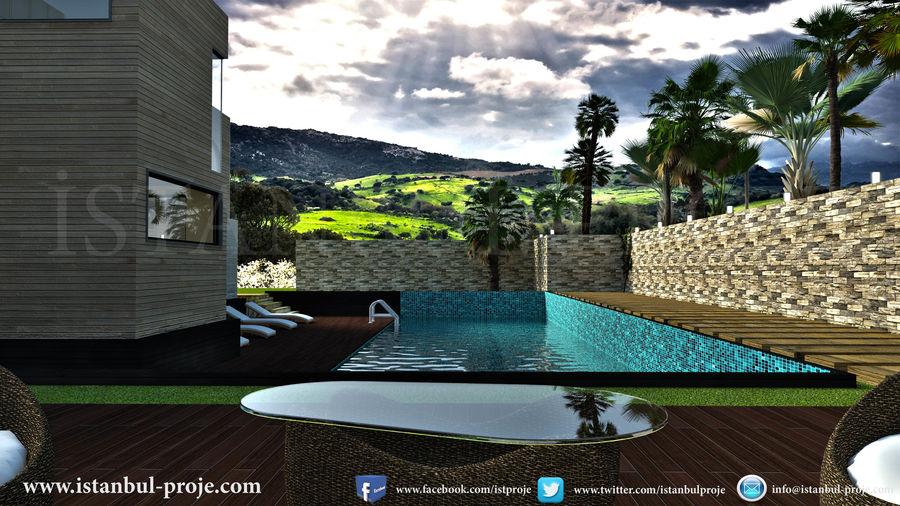 Modern Villa royalty-free 3d model - Preview no. 3
