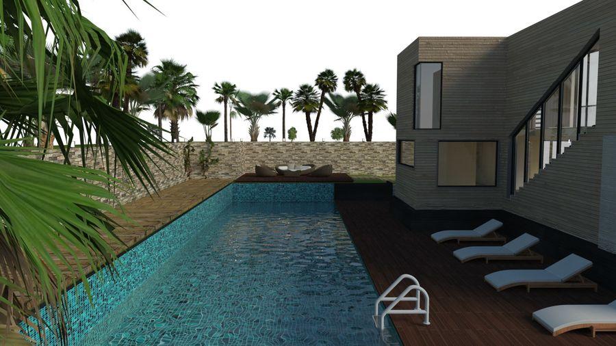 Modern Villa royalty-free 3d model - Preview no. 5