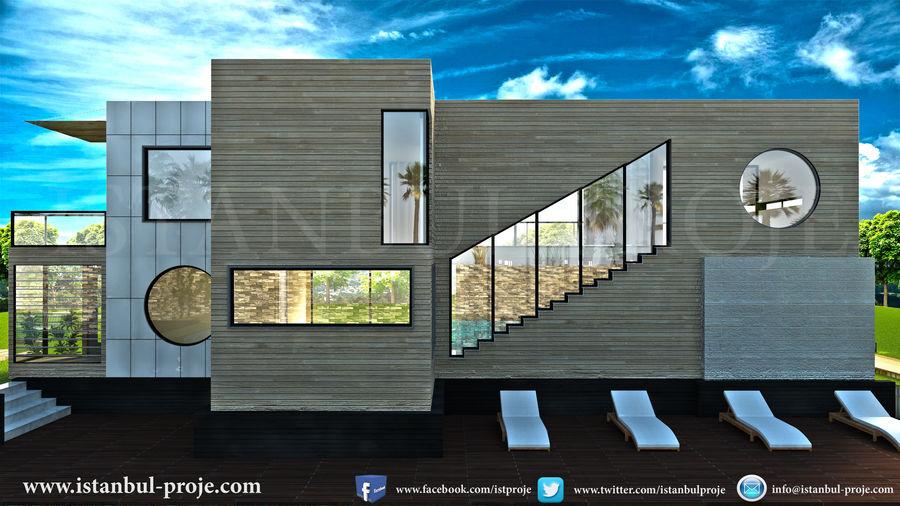 Modern Villa royalty-free 3d model - Preview no. 2