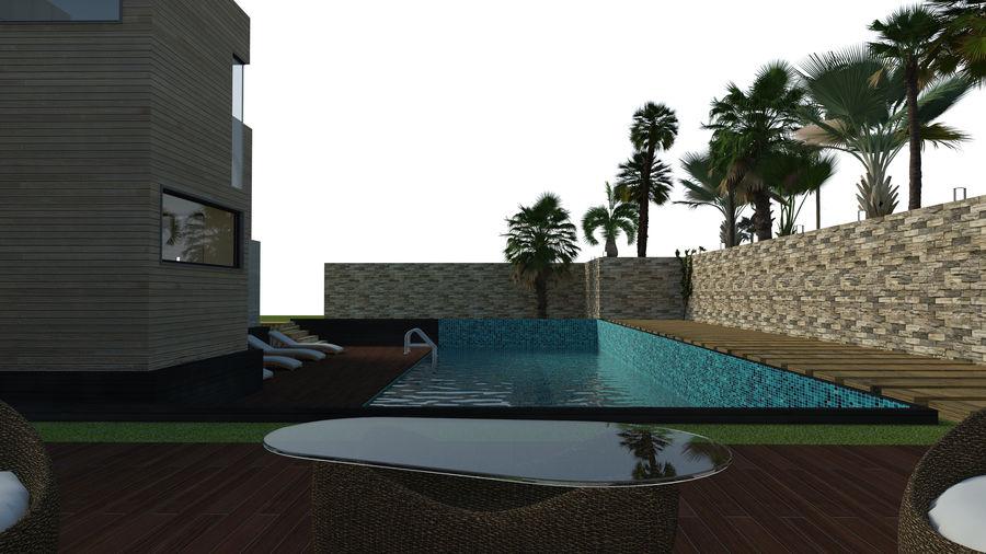 Modern Villa royalty-free 3d model - Preview no. 9