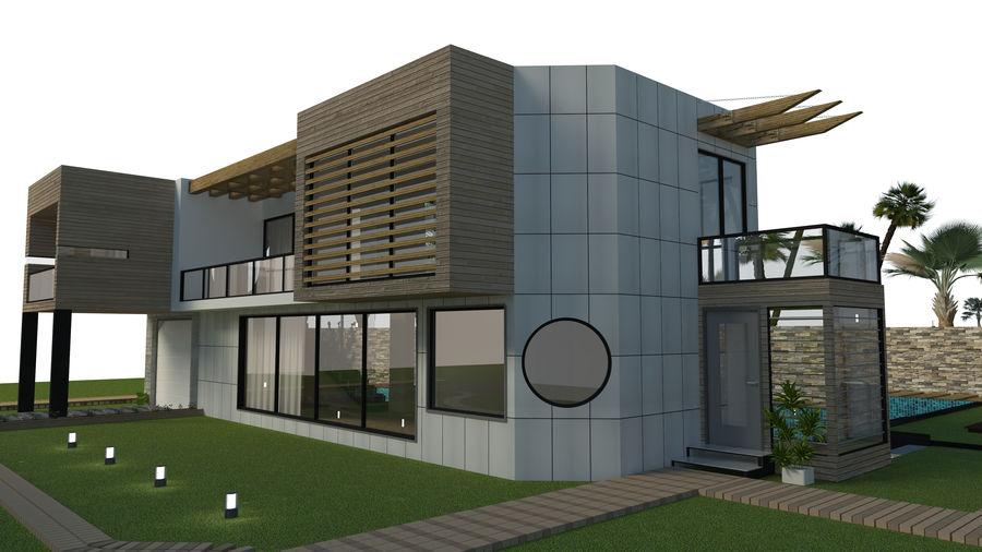 Modern Villa royalty-free 3d model - Preview no. 10
