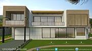 Villa moderne 3d model