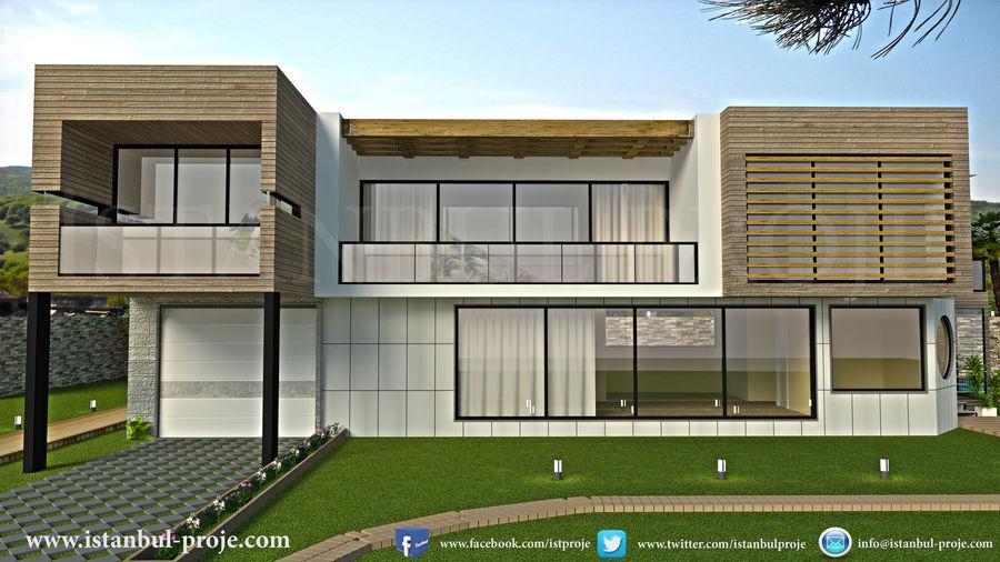 Modern Villa royalty-free 3d model - Preview no. 1