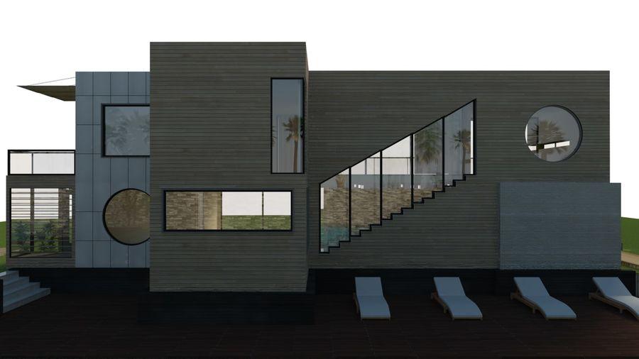 Modern Villa royalty-free 3d model - Preview no. 7