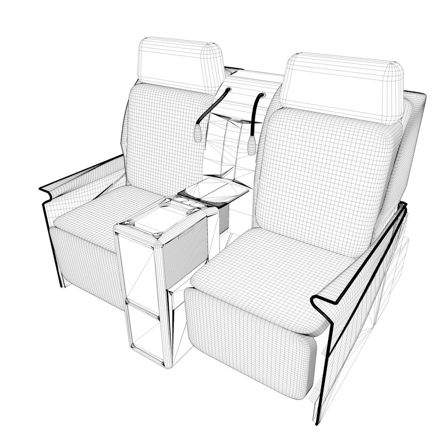 La tua sedia di business class royalty-free 3d model - Preview no. 5