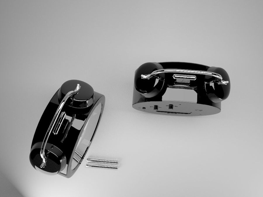 Alarm Clock royalty-free 3d model - Preview no. 18