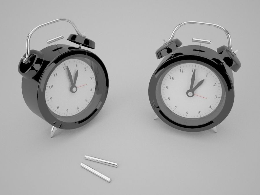 Alarm Clock royalty-free 3d model - Preview no. 16