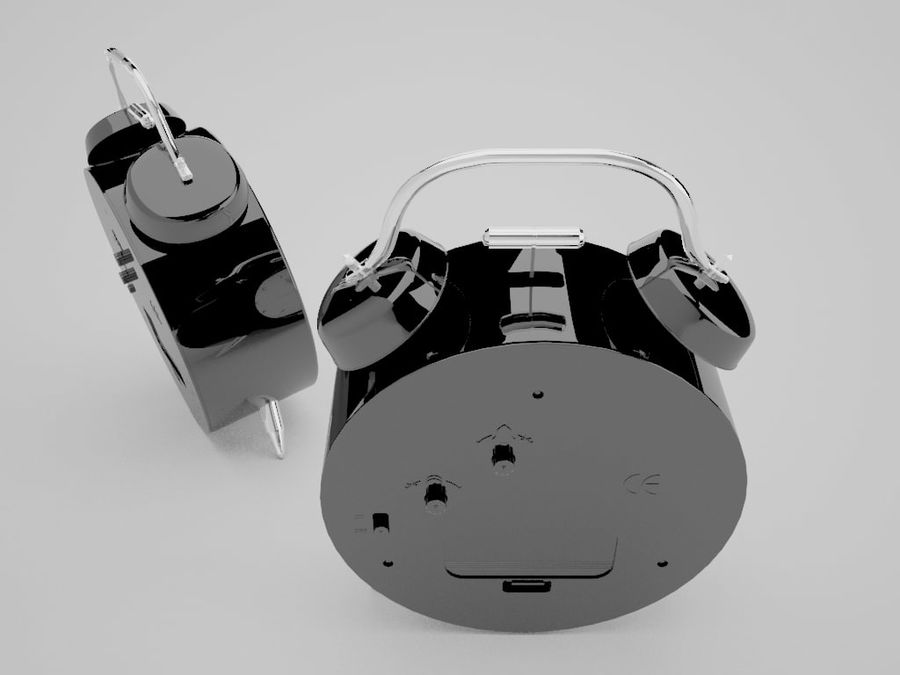 Alarm Clock royalty-free 3d model - Preview no. 21