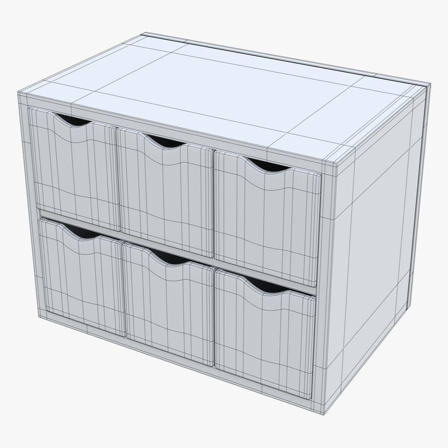 Cabinet royalty-free 3d model - Preview no. 15