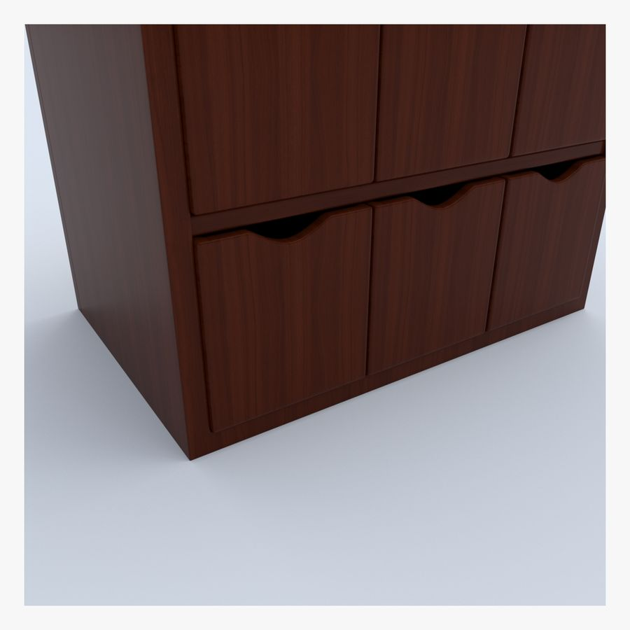Cabinet royalty-free 3d model - Preview no. 9