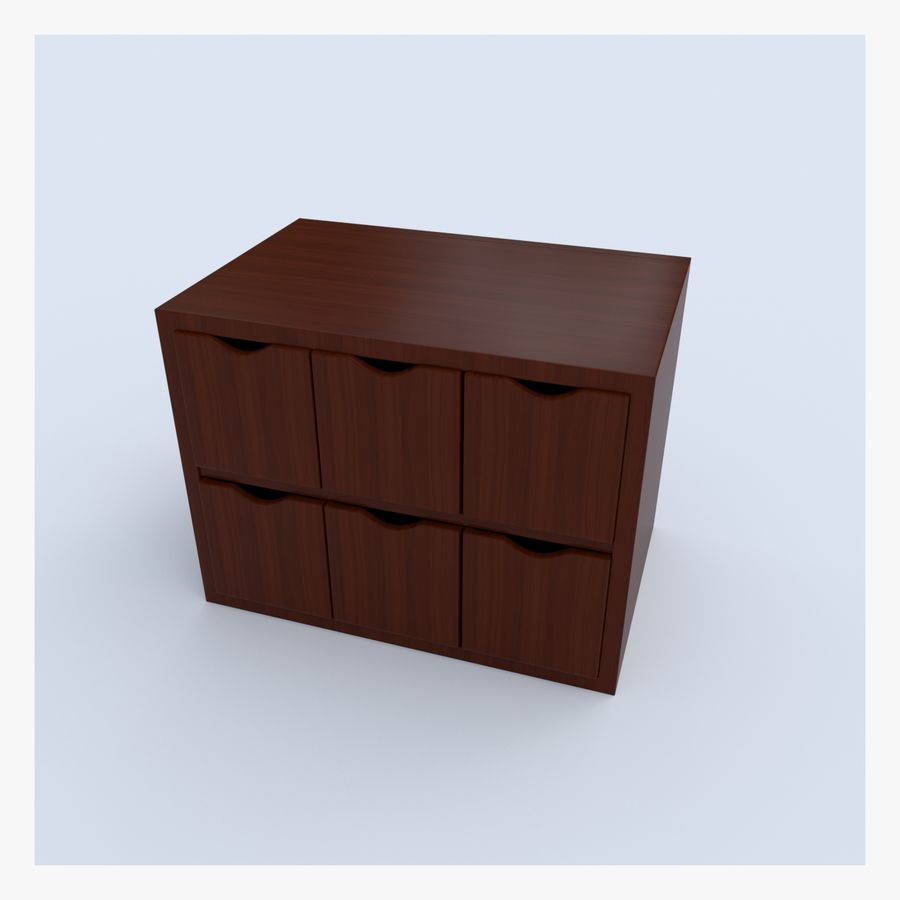 Cabinet royalty-free 3d model - Preview no. 8