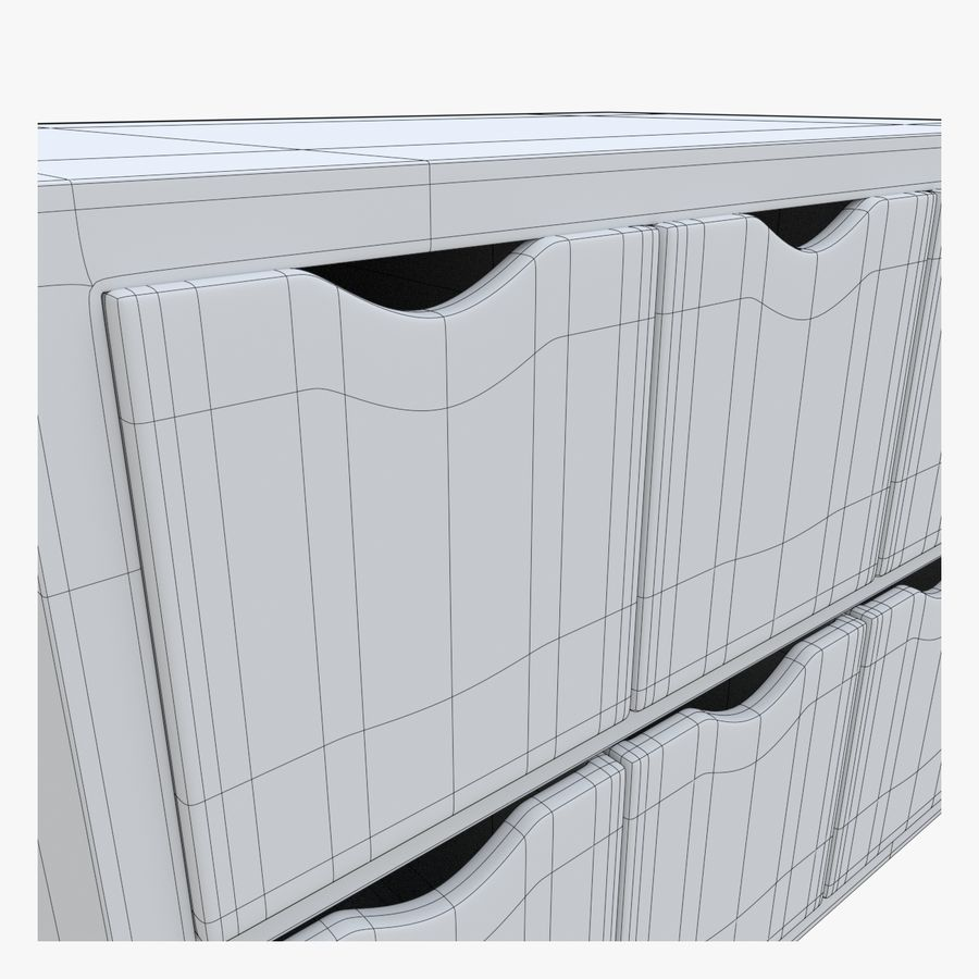 Cabinet royalty-free 3d model - Preview no. 12