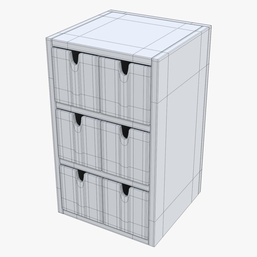 Cabinet royalty-free 3d model - Preview no. 14
