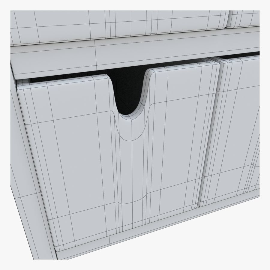 Cabinet royalty-free 3d model - Preview no. 11