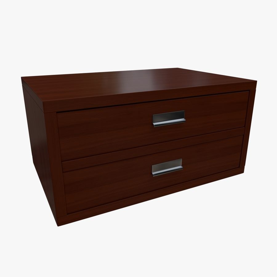 Mueble de madera royalty-free modelo 3d - Preview no. 2