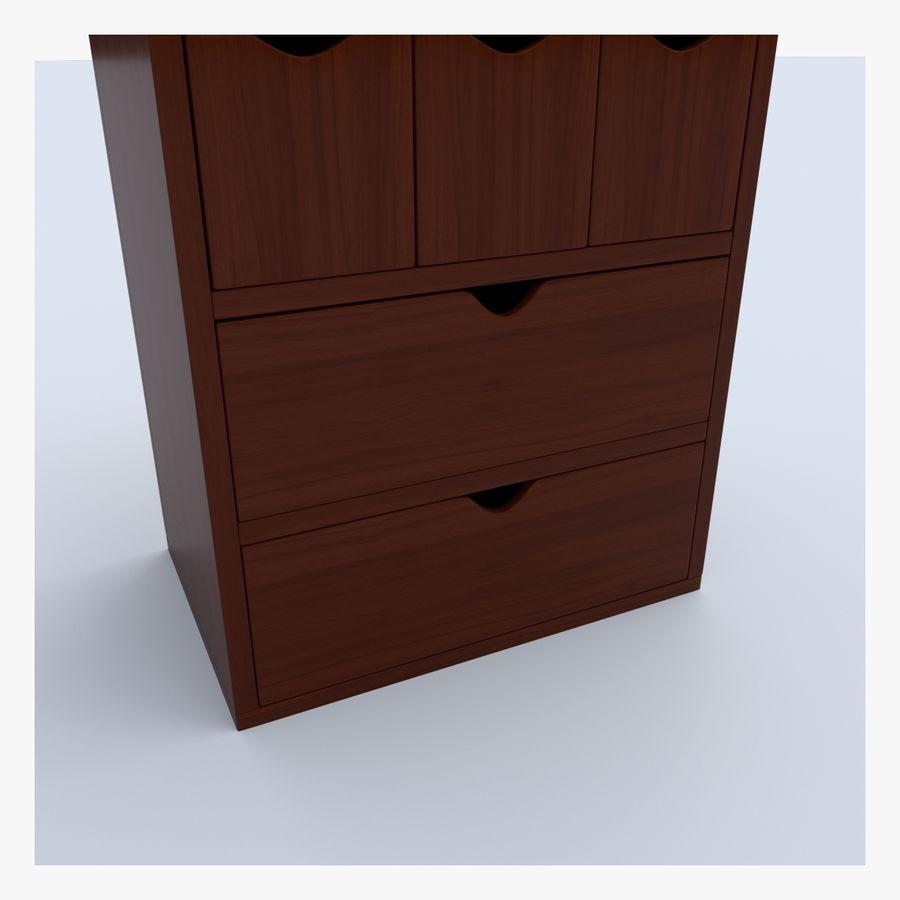 Mueble de madera royalty-free modelo 3d - Preview no. 7