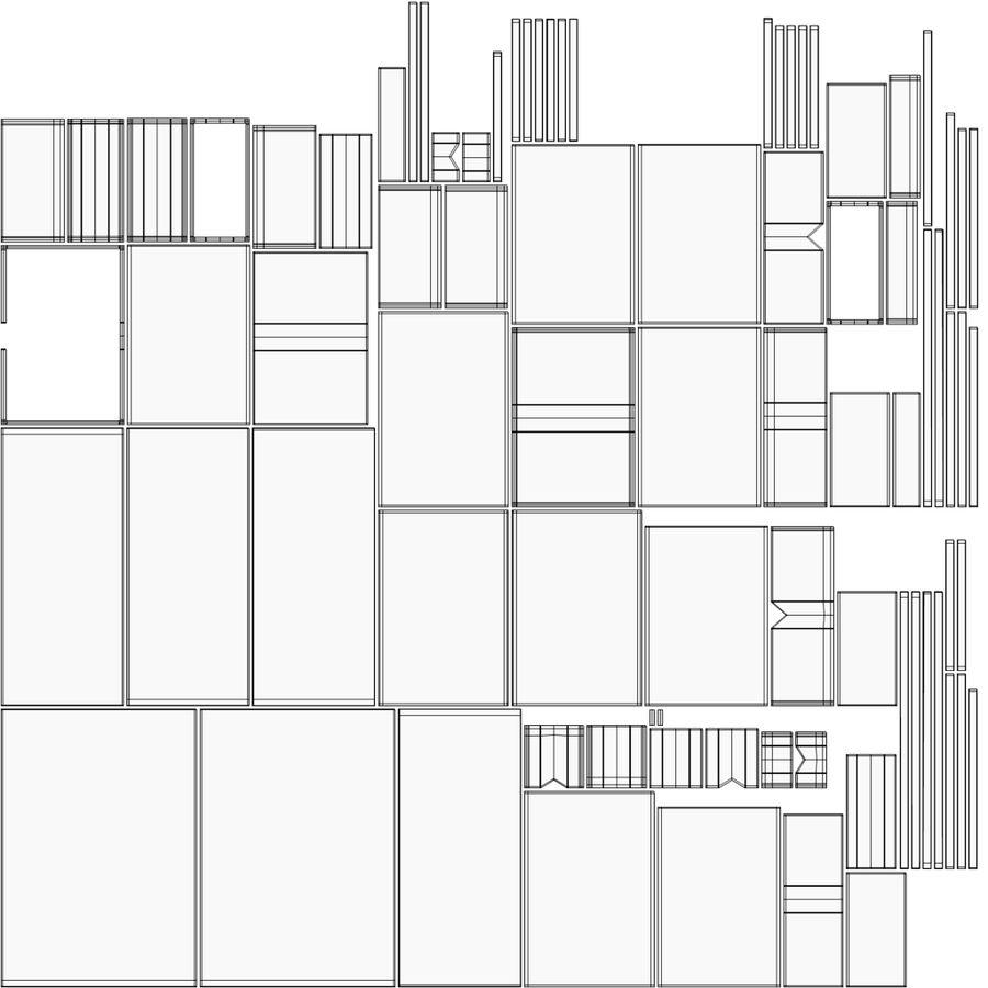 Mueble de madera royalty-free modelo 3d - Preview no. 15