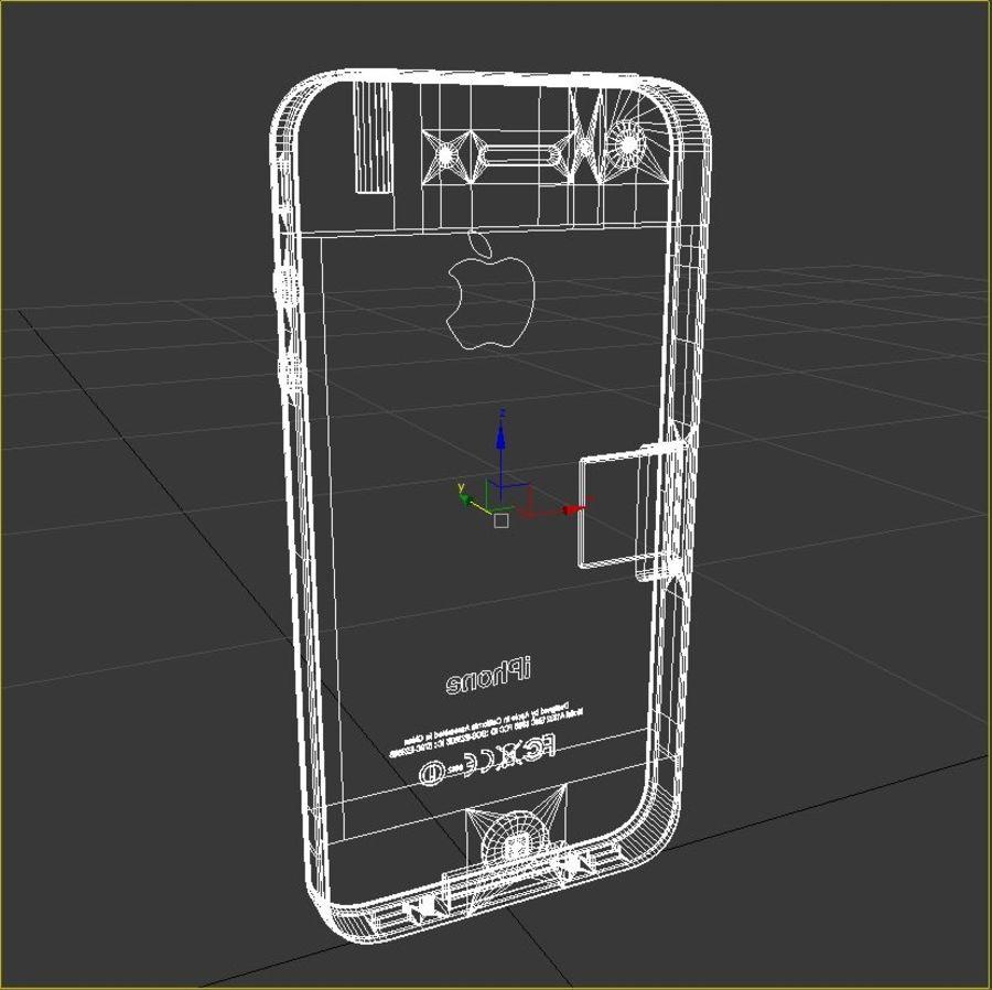 苹果手机4 royalty-free 3d model - Preview no. 5