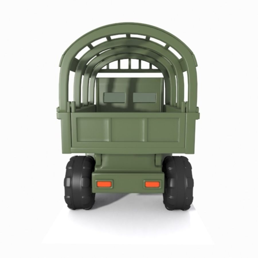 Cartoon Military Truck royalty-free 3d model - Preview no. 14