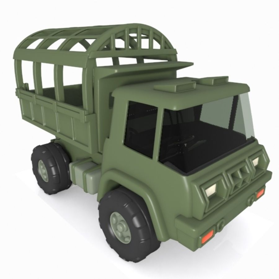 Cartoon Military Truck royalty-free 3d model - Preview no. 1