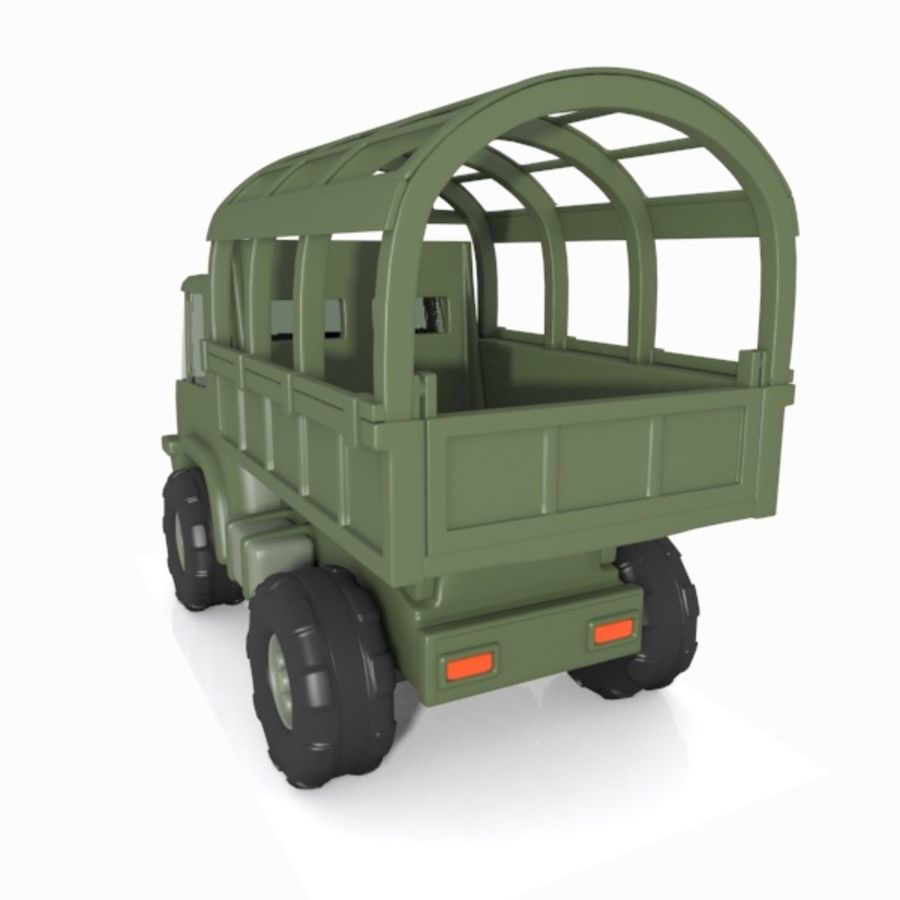 Cartoon Military Truck royalty-free 3d model - Preview no. 12