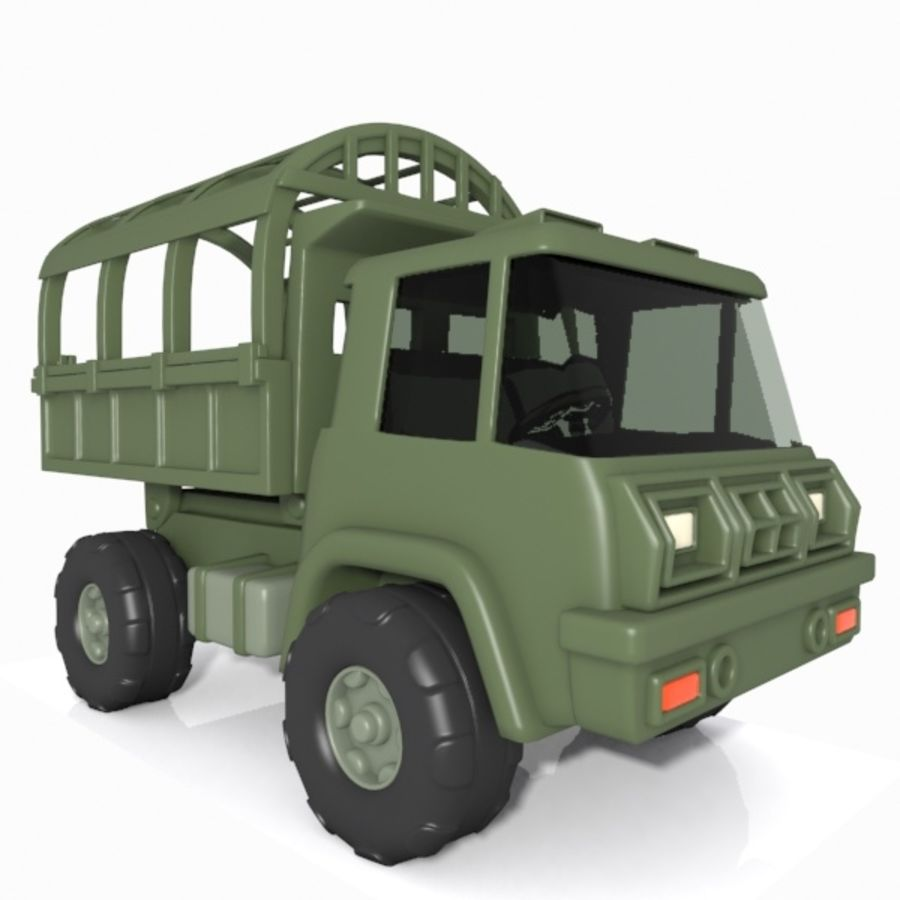 Cartoon Military Truck royalty-free 3d model - Preview no. 5