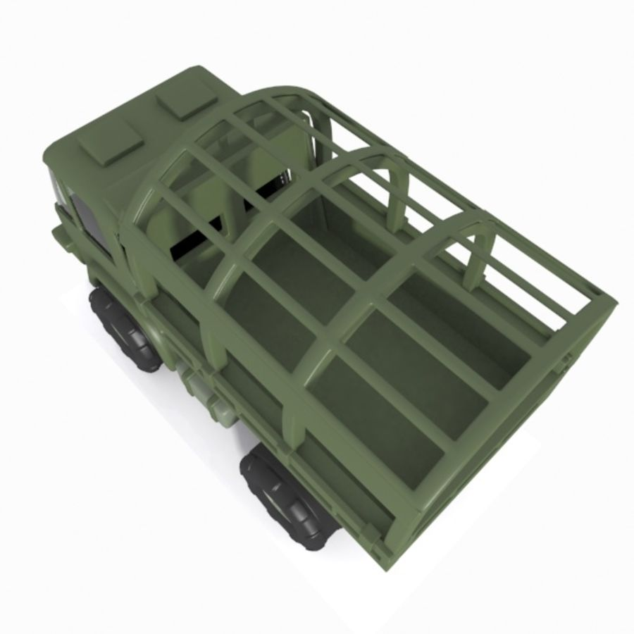 Cartoon Military Truck royalty-free 3d model - Preview no. 13