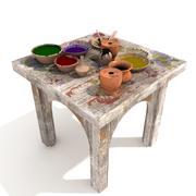 juego de mesa salpicada modelo 3d