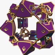 Forma abstracta A4 modelo 3d