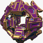 Forma abstrata A5 3d model