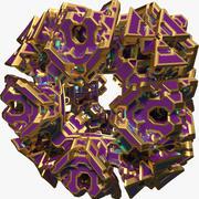 Forma abstracta A6 modelo 3d