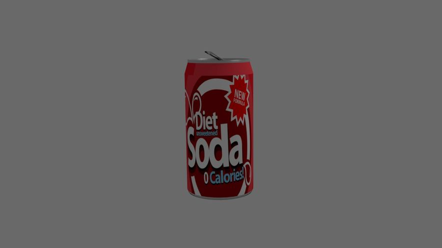 Realistic Soda can royalty-free 3d model - Preview no. 1