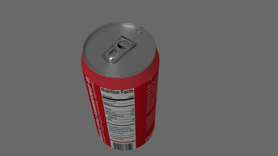 Realistic Soda can royalty-free 3d model - Preview no. 9