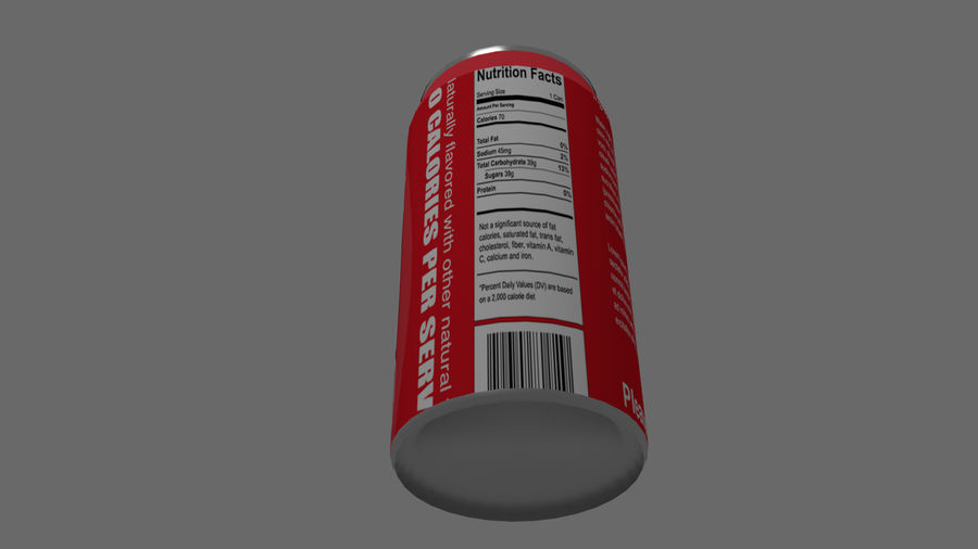 Realistic Soda can royalty-free 3d model - Preview no. 4
