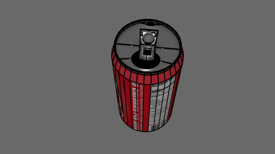 Realistic Soda can royalty-free 3d model - Preview no. 7