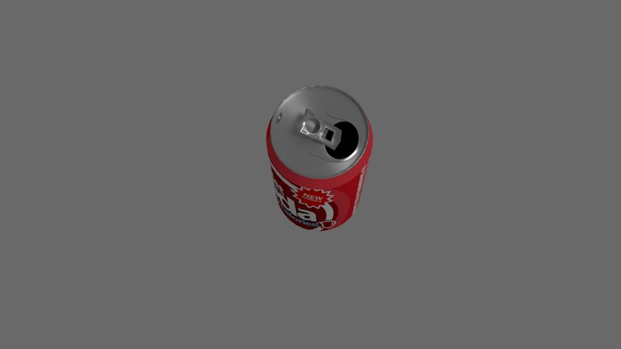 Realistic Soda can royalty-free 3d model - Preview no. 3