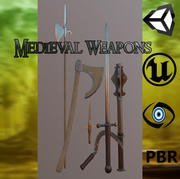 Medieval Meele Weapons Pack 3d model