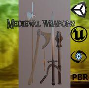 Pack de armas medievales Meele modelo 3d