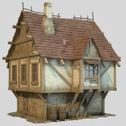 Fantasy House lowpoly 3d model