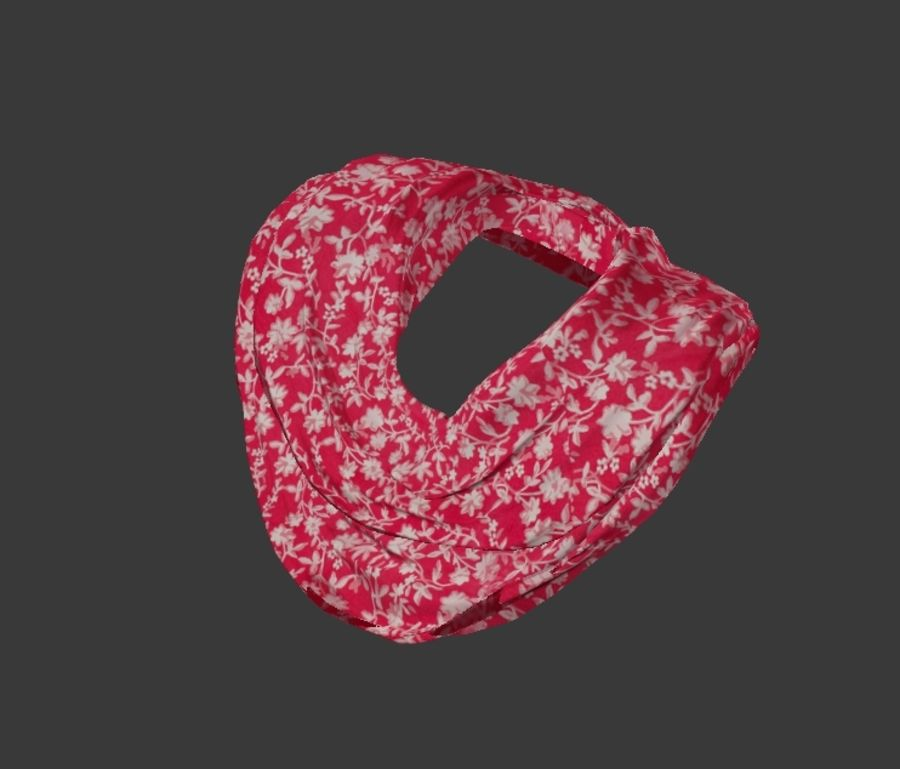 Scarf royalty-free 3d model - Preview no. 3