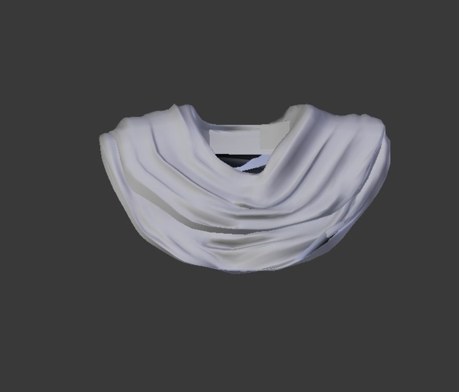 Scarf royalty-free 3d model - Preview no. 6