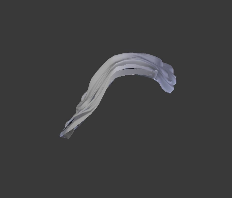 Scarf royalty-free 3d model - Preview no. 7