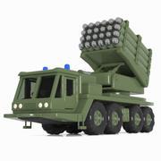 Cartoon Vehicle Missile Vehicle 2 3d model