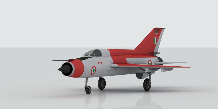 Mig 21 Italia royalty-free 3d model - Preview no. 1
