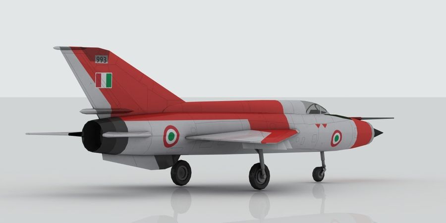 Mig 21 Italia royalty-free 3d model - Preview no. 4