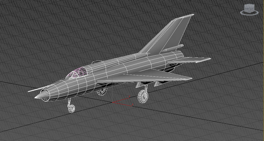 Mig 21 Italia royalty-free 3d model - Preview no. 5