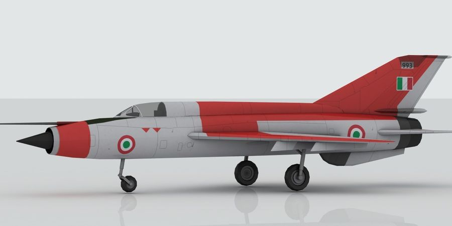 Mig 21 Italia royalty-free 3d model - Preview no. 7
