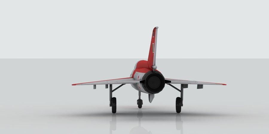 Mig 21 Italia royalty-free 3d model - Preview no. 6