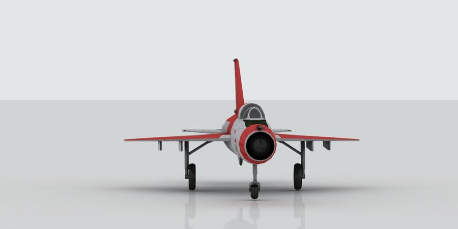 Mig 21 Italia royalty-free 3d model - Preview no. 2